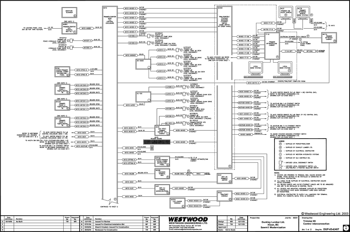 Projects Electrical Engineering Westwood Diagram